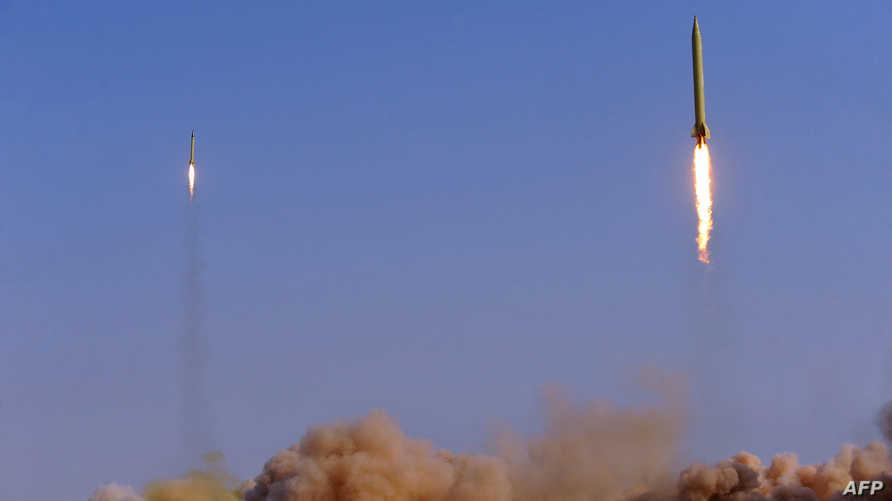صواريخ باليستية أطلقها الحرس الثوري الإيراني-أرشيف