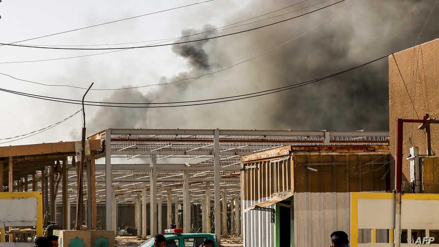 حريق سابق في بغداد