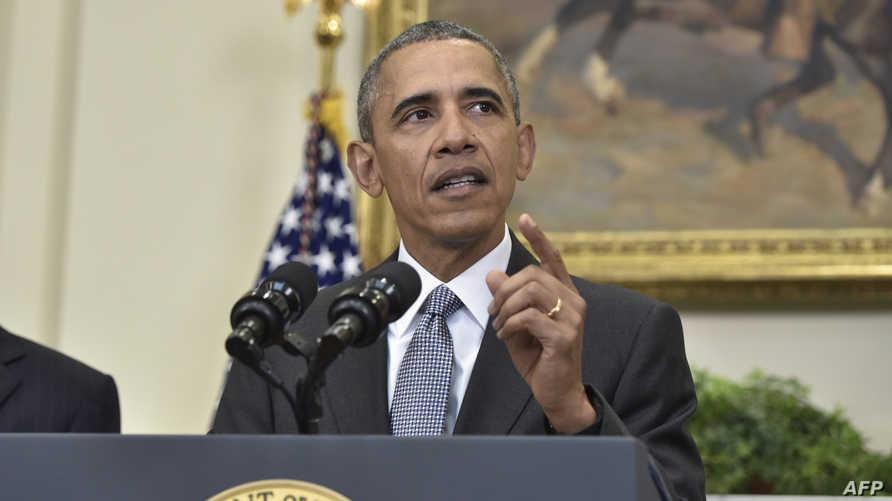باراك أوباما خلال تقديم خطة إغلاق غوانتانامو