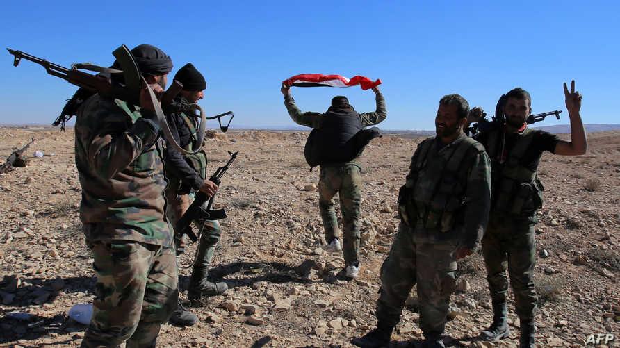 عناصر في القوات النظامية السورية