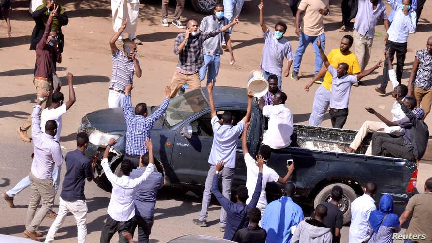 متظاهرون سودانيون في العاصمة الخرطوم