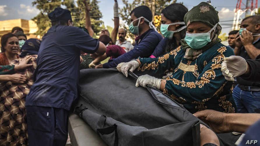 جثث قتلى تصل لأحد مستشفيات منطقة تل تمر