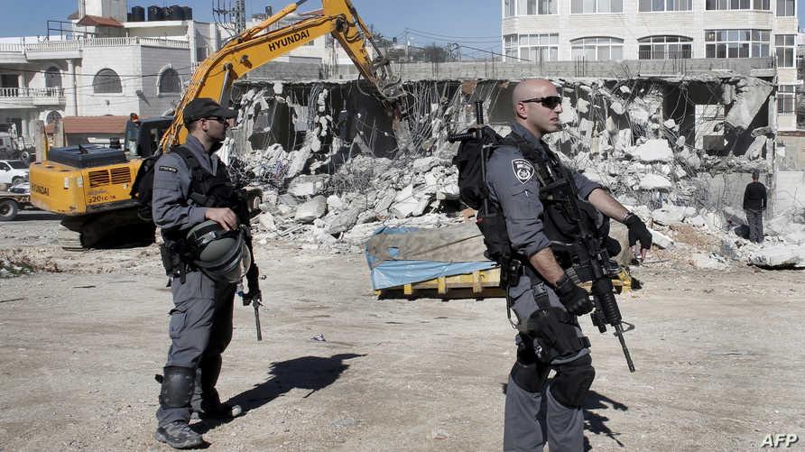 جانب من عملية هدم منزل في القدس- أرشيف