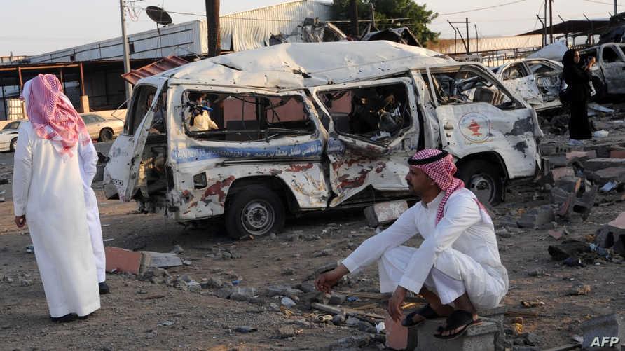 مخلفات هجوم من اليمن على نجران -أرشيف