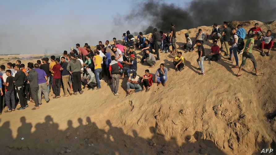 من التظاهرات في غزة