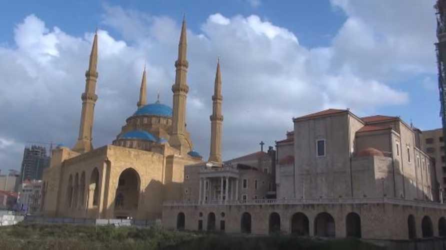 مسجد محمد الأمين وكنيسة سانت جورج في بيروت
