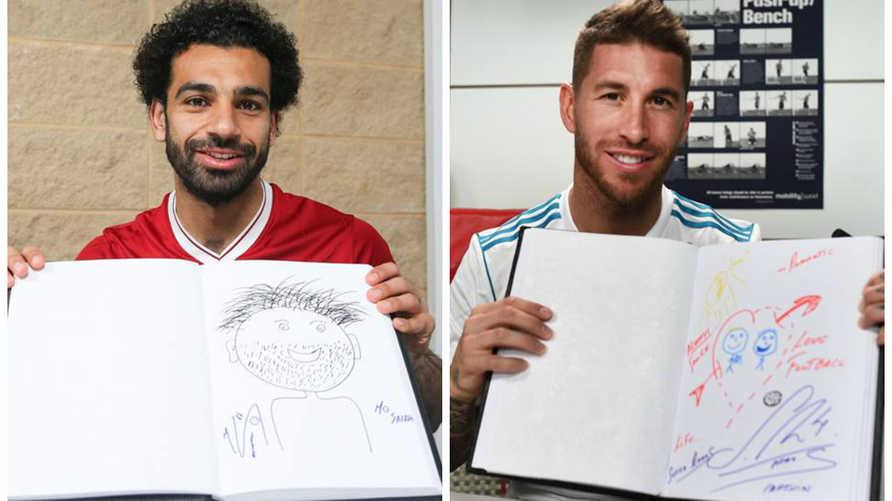 محمد صلاح وسرجيو راموس, المصدر: صفحة UEFA على فيسبوك
