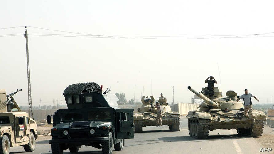 قرات عراقية مشتركة في إحدى مناطق الأنبار