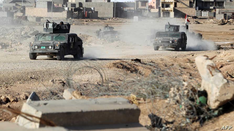 قوات مكافحة الإرهاب العراقية في منطقة التأميم في الرمادي