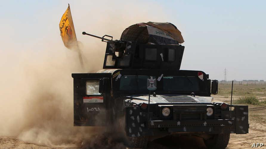 دبابة تابعة للقوات العراقية تدخل مدينة تكريت