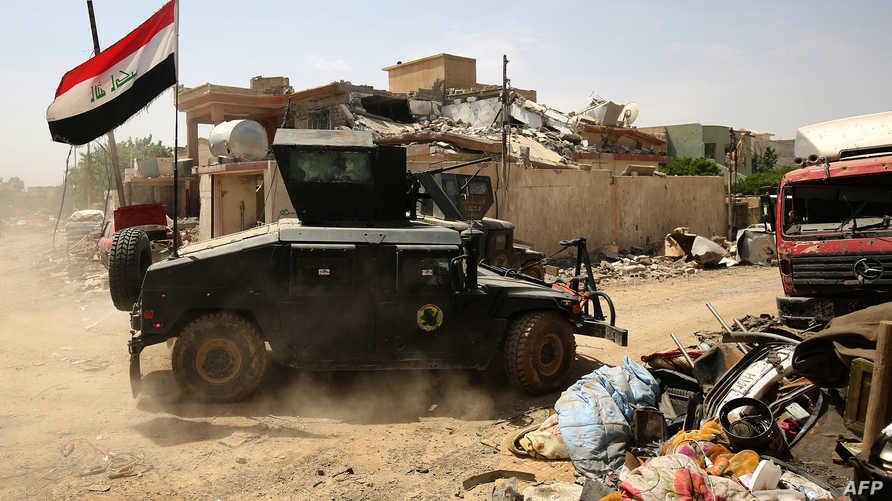 قوات من جهاز مكافحة الإرهاب تتقدم نحو حي الإصلاح الزراعي غربي الموصل الأربعاء