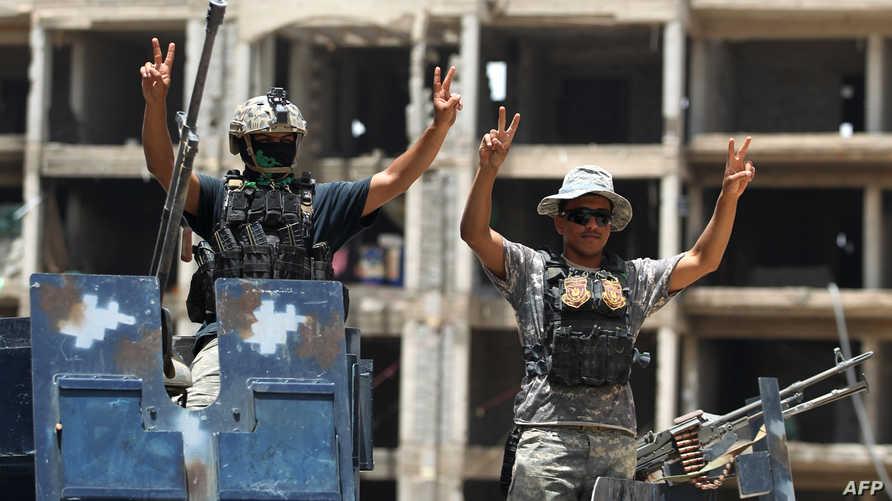 قوات عراقية شمال الفلوجة