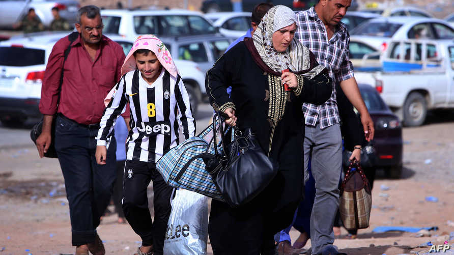 نزوح عائلات من محافظة نينوى في اتجاه إقليم كردستان