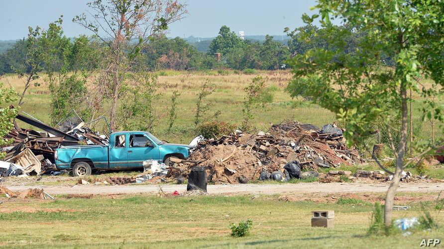 آثار دمار جراء إعصار في أوكلاهوما- أرشيف