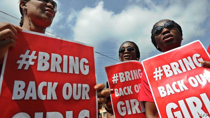 مسيرة للمطالبة بالإفراج عن الطالبات الاتي اختطفتهن جماعة بوكو حرام