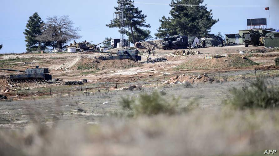 المدفعية التركية على الحدود مع سورية - أرشيف