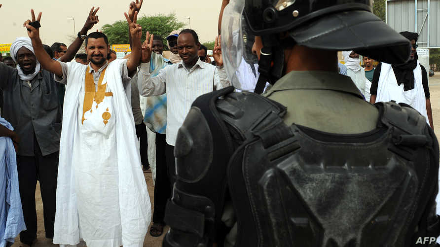 موريتانيون في وفقة احتجاجية سابقة