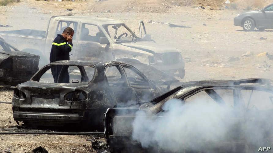 مخلفات تفجير سابق استهدف مسجدا في العراق