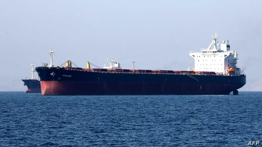 ناقلة نفط إيرانية في ميناء بندر عباس - أرشيف