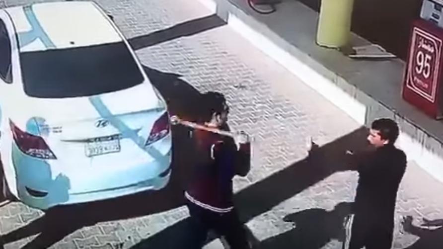 لقطة من تسجيل الفيديو المنتشر على وسائل التواصل الاجتماعي