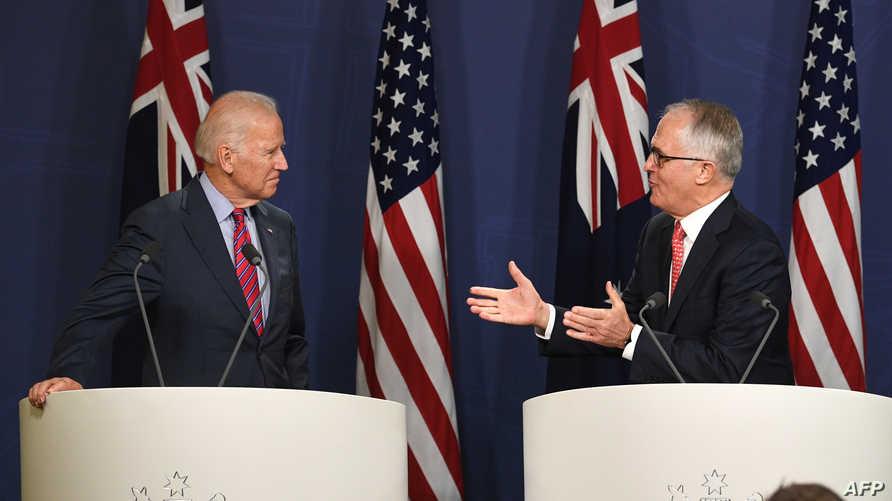 رئيس الوزراء الأسترالي رفقة نائب الرئيس الأميركي
