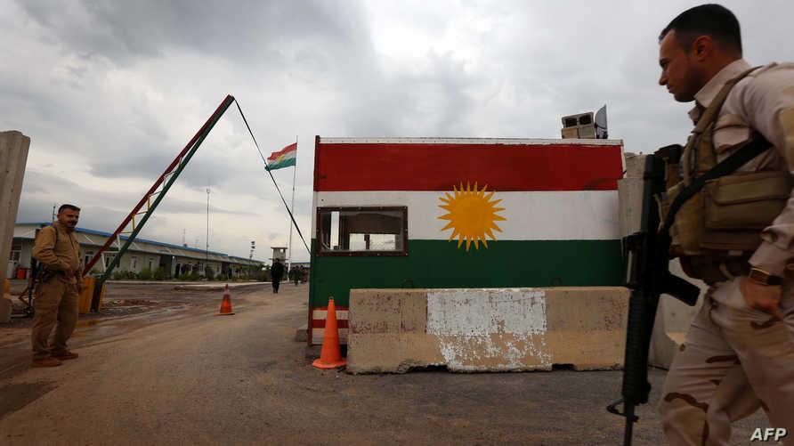 إحدى النقاط العسكرية لقوات البيشمركة الكردية.