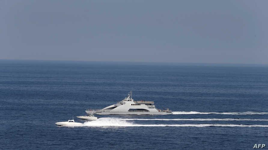 قوارب تابعة للحرس الثوري الإيراني في مياه الخليج