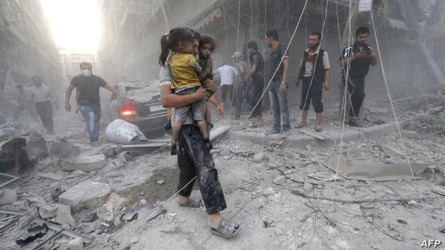 قصف النظام السوري لمدينة حلب