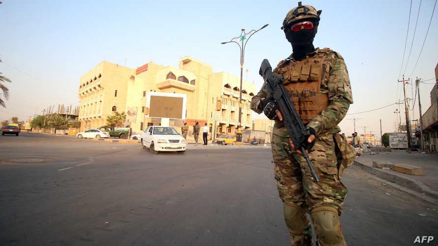منتسب في القوات الأمنية العراقية في البصرة