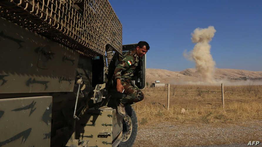 مقاتل من قوات البيشمركة الكردية - أرشيف