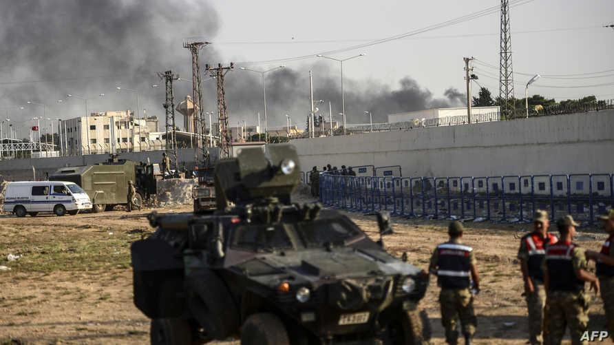 قوات تركية على الحدود السورية -أرشيف