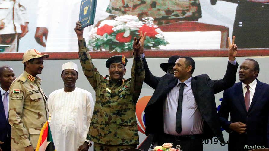 عقب الإعلان عن توقيع الإعلان الدستوري في السودان