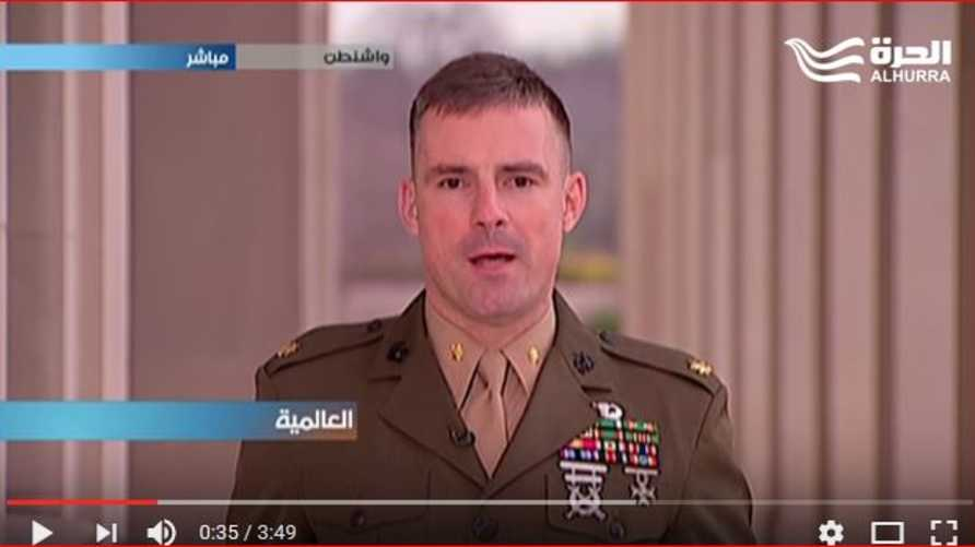 أدريان رانكين غالاواي، المتحدث باسم وزارة الدفاع (البنتاغون) لشؤون الشرق الأوسط
