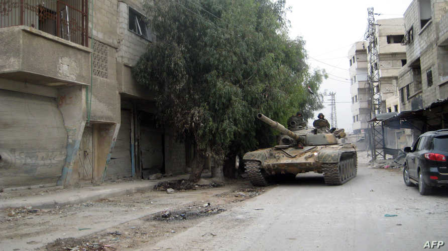 قوات الجيش النظامي السوري بالعاصمة دمشق