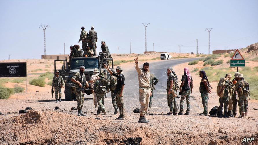 قوات حكومية سورية في دير الزور