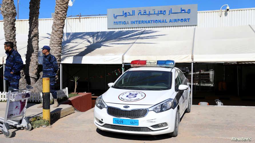 مطار معيتيقة تعرض لهجمات