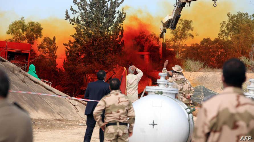 تدمير شحنة من الأسلحة الكيميائية في ليبيا -أرشيف