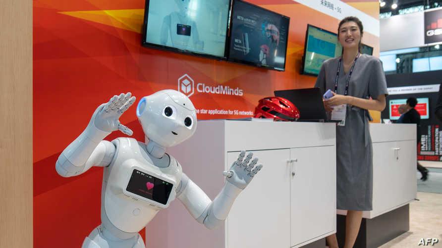 روبوت في معرض بالصين. تعبيرية - أرشيفية