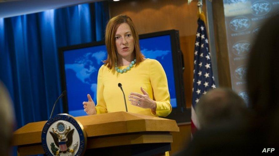 المتحدثة باسم الخارجية الأميركية جين ساكي
