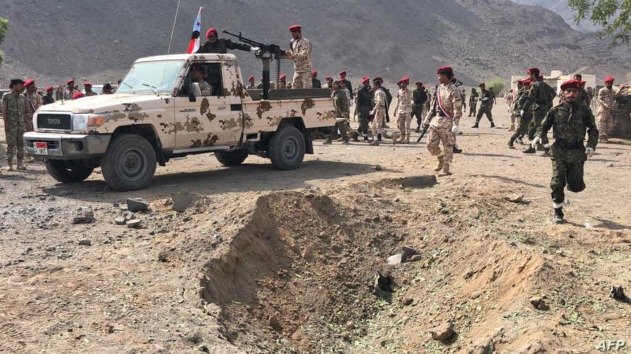 قوات أمنية يمنية بعد هجوم دام الخميس الماضي
