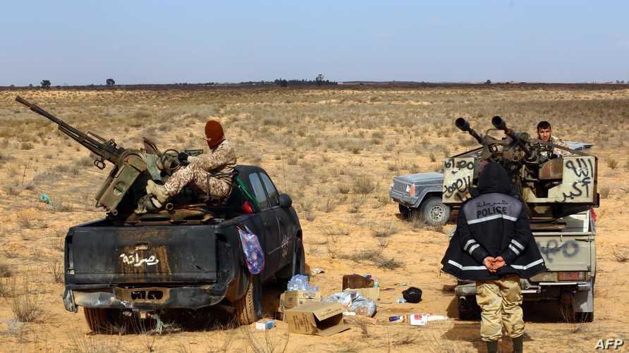 مسلحون من تنظيم فجر ليبيا-أرشيف