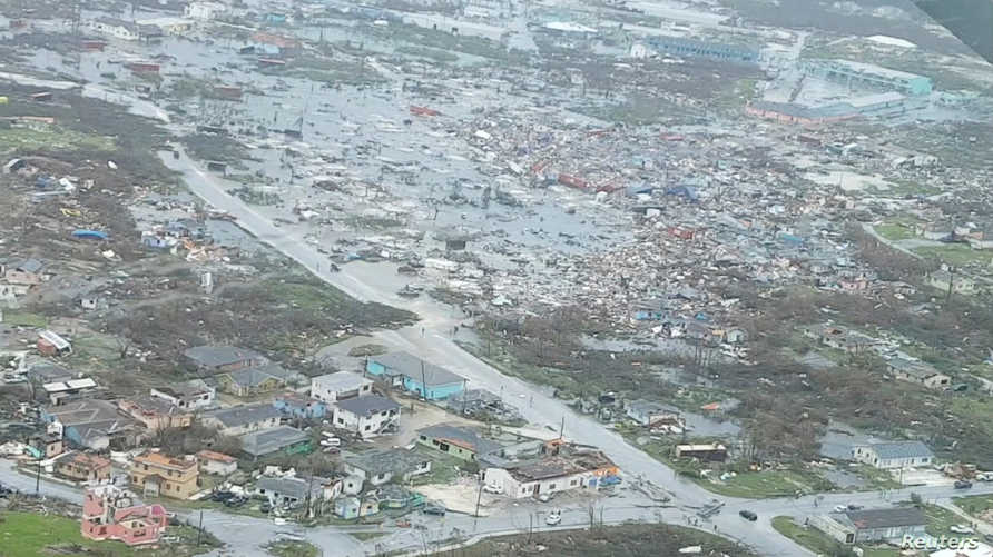 صورة جوية للدمار في جزر أباكو في البهاما بعد إعصار دوريان