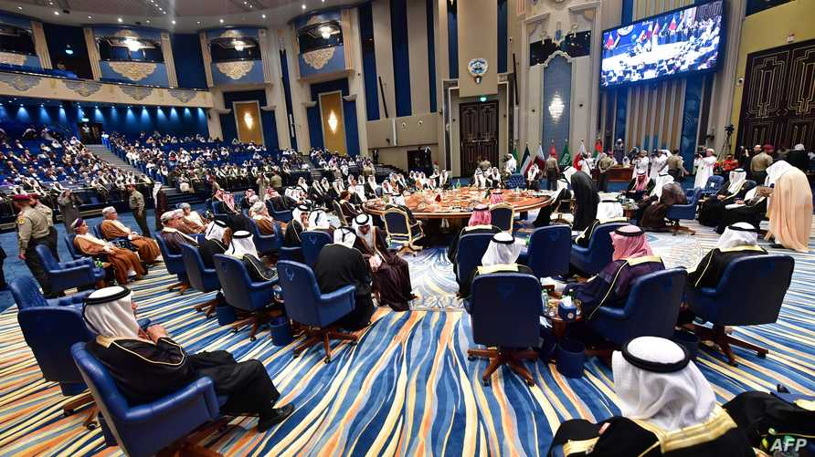 قمة مجلس التعاون الخليجي في الكويت في نهاية عام 2017 (أ ف ب)