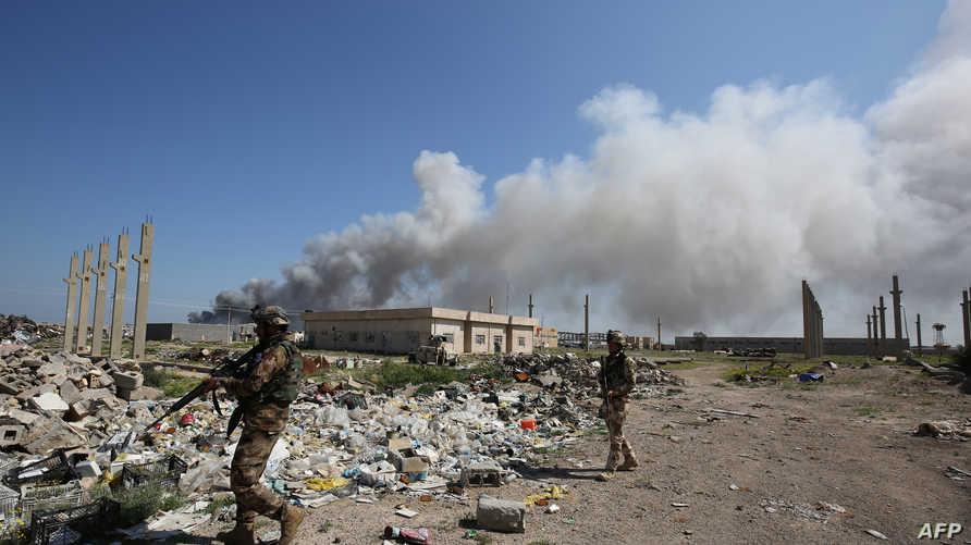 مخلفات هجوم سابق قرب أبو غريب