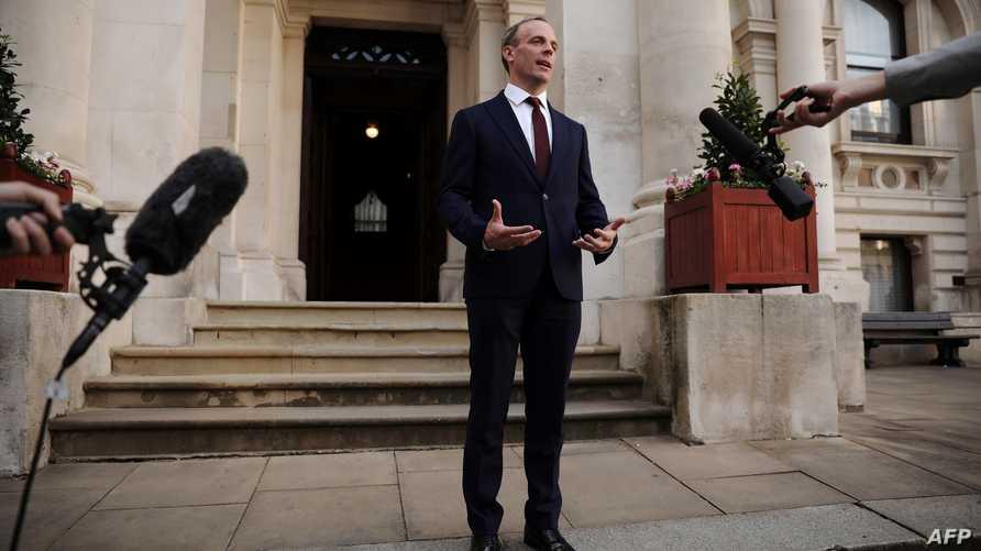 دومينيك راب وزير خارجية بريطانيا