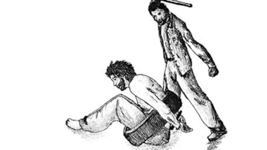 رسم توضيحي حول طرق التعذيب منشور على الموقع الرسمي لمنظمة العفو الدولية