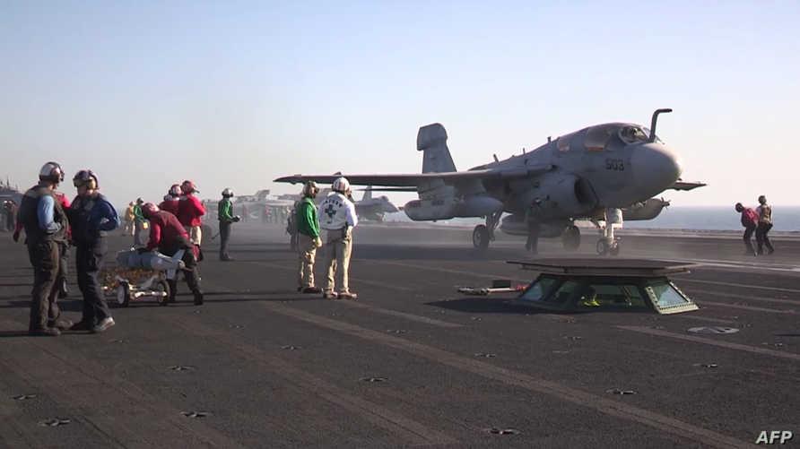 مقاتلة أميركية تنطلق لقصف مواقع داعش في سورية