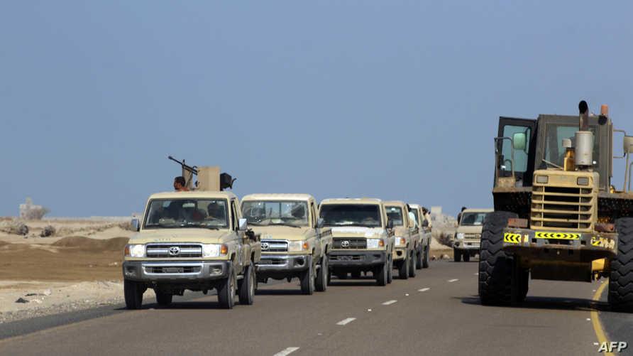 قوات مؤيدة للحكومة اليمنية قرب الحديدة