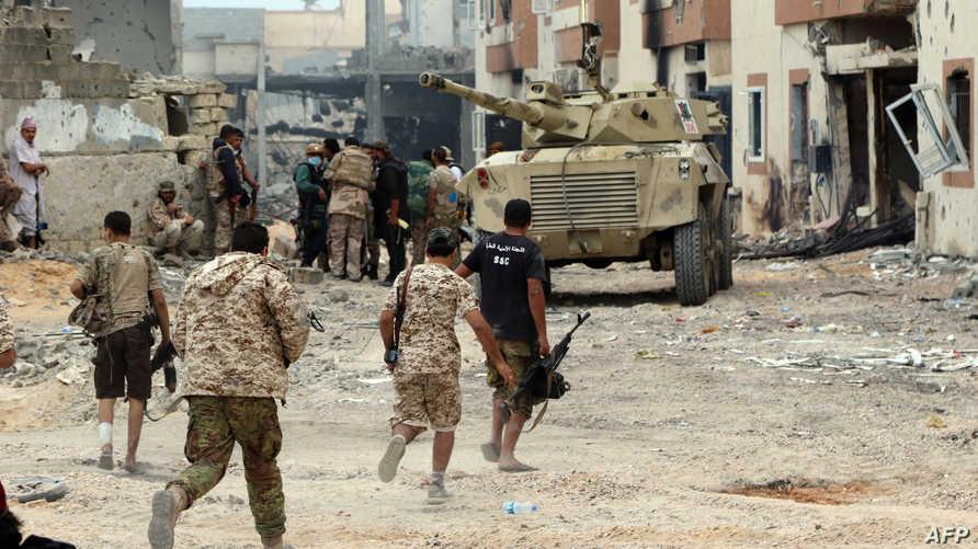 قوات موالية لحكومة الوفاق الوطني الليبية في مدينة سرت