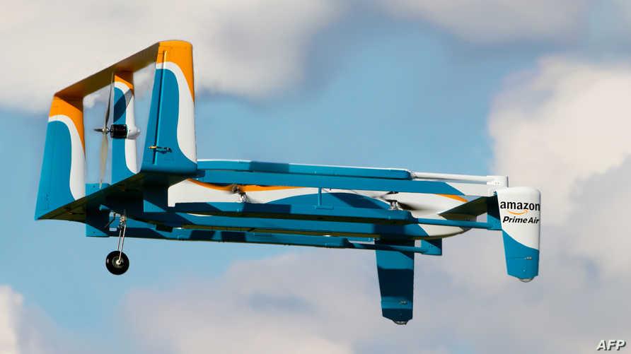 طائرة مسيرة لخدمة التوصيل من أمازون